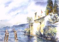 Italien, See, San vigilio, Aquarellmalerei