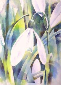Blumen, Aquarellmalerei, Frühling, Frühblüher