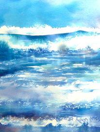 Teneriffa, Aquarellmalerei, Ozean, Kanarische inseln