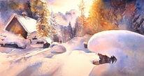 Schnee, Hütte, Sonne, Film