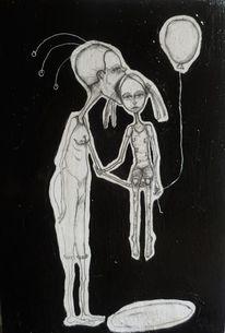 Schwarz weiß, Kind, Zeichnungen