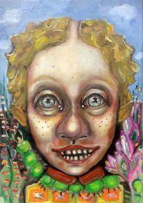 Portrait, Grotesk, Kobold, Karikatur