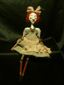 Puppe, Art doll, Rote haare, Theater
