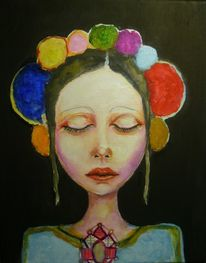 Mädchen, Tradition, Malerei, Folklore