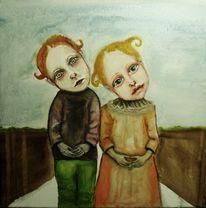 Skurril, Malerei, Märchen, Kinder