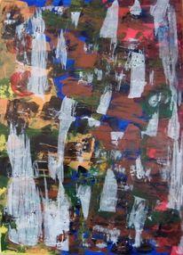 Spachtel, 2015, Acrylmalerei, Malerei