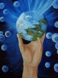 Hand, Erde, Spielen, Malerei