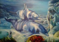 Malerei, Licht, Ölmalerei, Unterwasser