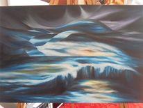 Malerei, Licht, Abstrakt, Landschaft