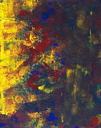 Modern, Abstrakt, Dunkel, Rot