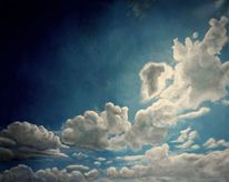 Wolken, Himmel, Sonne, Ölmalerei