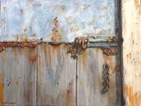 Realismus, Eitempera gebäude, Alt, Holz