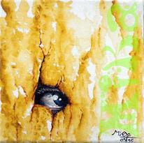 Acrylmalerei, Augen, Malerei, Blick