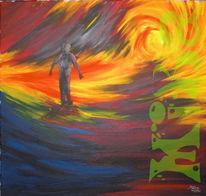 Acrylmalerei, Weg, Malerei, Sein