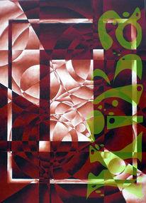 Acrylmalerei, Fantasie, Abstrakt, Malerei