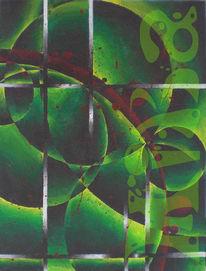 Abstrakt, Acrylmalerei, Fantasie, Malerei