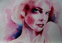 Portrait, Aquarellmalerei, Aquarell,