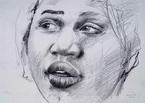 Kinderportrait bleistiftzeichnung, Bleistiftzeichnung child, Kind, Bleistiftskizze kind