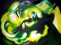 Marylin monroe, Acrylmalerei, Monroe, Portrait