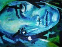 Model, Gesicht, Acrylportrait, Natalia vodianova