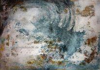 Abstrakt, Bewegung, Welle, Blau