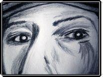 Einfache, Geheimnissvolle, Malerei, Augen