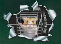 Acrylfarben, Fell, Tiere, Hamster