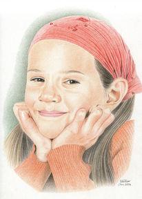 Bunt, Kind, Zeichnung, Portrait