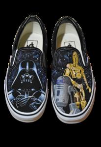 Fantasie, Schuhe, Star wars, Acrylmalerei