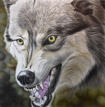 Airbrush, Natur, Wolf, Malerei