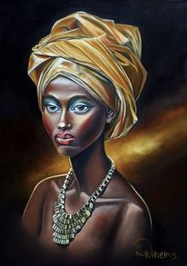 Afrikanisches kopftuch, Afrikanischer kopfschmuck, Portrait, Frauenportrait