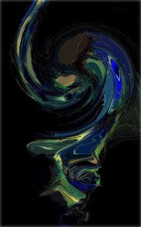 Blau, Abstrakt, Modern, Farben