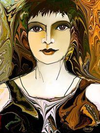 Frau, Modern, Herbst, Abstrakt