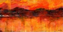 Landschaft, Abstrakte kunst, Abend, Alpen