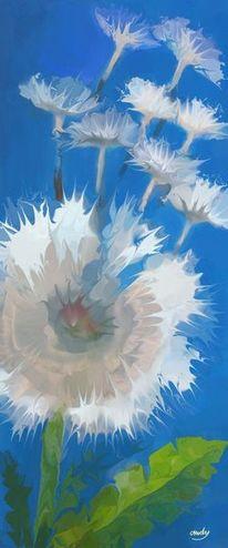 Digital, Modern, Digitale kunst, Blumen