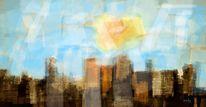 Stadt, Perfekt, Abstrakte kunst, Digitale kunst