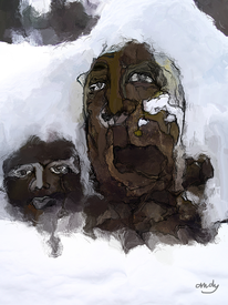Allgäuer, Digitale kunst, Wintergeist, Digital
