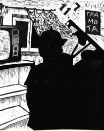 Druckgrafik, Linolschnitt, Hoss, Paul hoss