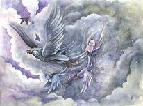 Papagei, Sturm, Schneesturm, Kinderbuch