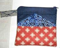 Tasche, Japan, Haus, Patchwork