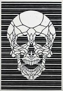 Schädel, Druckgrafik