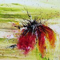 Abstrakte malerei, Wohndesign, Blumenmalerei, Grün