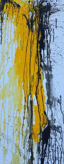 Malerie, Acryl auf leinwand, Moderne malerei, Gelb