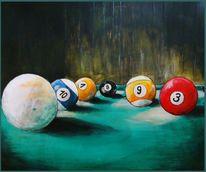 Bunt, Billard, Malerei,