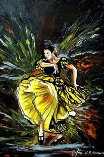 Bewegung, Tanz, Flamenco, Malerei