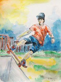 Sport, Jugend, Malerei,