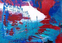 Acrylmalerei, Schwingung, Weiß, Malerei