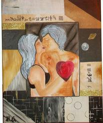 Liebe, Pastellmalerei, Comic, Ägyptisch