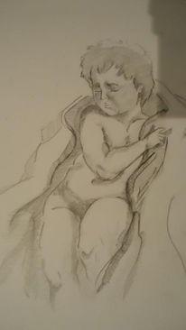 Michelangelo, Brügge madonna, Skizze, Kleinkind