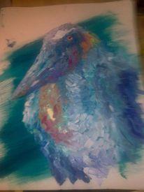 Tiere, Ölmalerei, Umgebung, Papagei